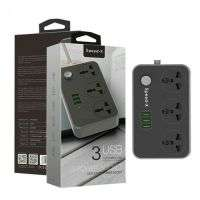 SPEED-X POWER UNIVERSAL TRAVEL 3 SOCKET + 3USB