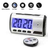 Hidden table clock camera with remote