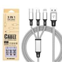 NYLON 3 IN 1 MOBILE DATA CABLE