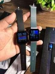 Mi Watch Master Replica |Fitness Smart Watch-BP-BPM| Silver Dial Green Strap
