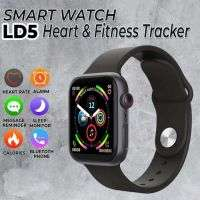 IWO LD5 Smart Watch Heart Rate Monitor Fitness Tracker BT Make Calls -Black