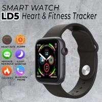 IWO LD5 Smart Watch Heart Rate Monitor Fitness Tracker BT Make Calls -Black