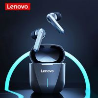Lenovo XG01 Bluetooth IPX5 Waterproof Dual Microphone Noise Reduction Bluetooth Gaming Earphone with Charging Box & LED Breathing Light, Support Touch & Game