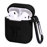 Silicon Case For AirPods 2 BLACK+HOOK