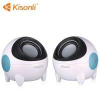 Kisonli Speakers 3.5MM Jack Based Mini Size For PC/LAPTOP K800