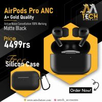 Branded Airpods Pro ANC Matte Black|Active Noise Cancellation GOLD Quality|